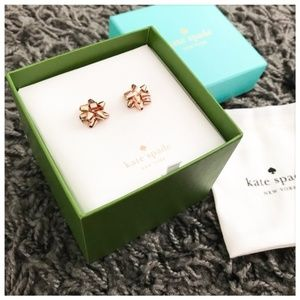 ♠️ NWT Kate Spade Rose Gold Bourgeois Bow Studs ♠️